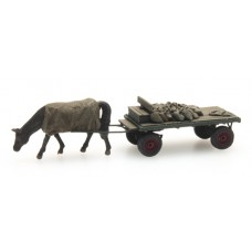 316051 Painted Coal Merchant Cart and Horse (N Scale 1/160th)