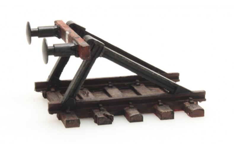 316038 Painted Open Buffer Stop (N scale 1/160th)