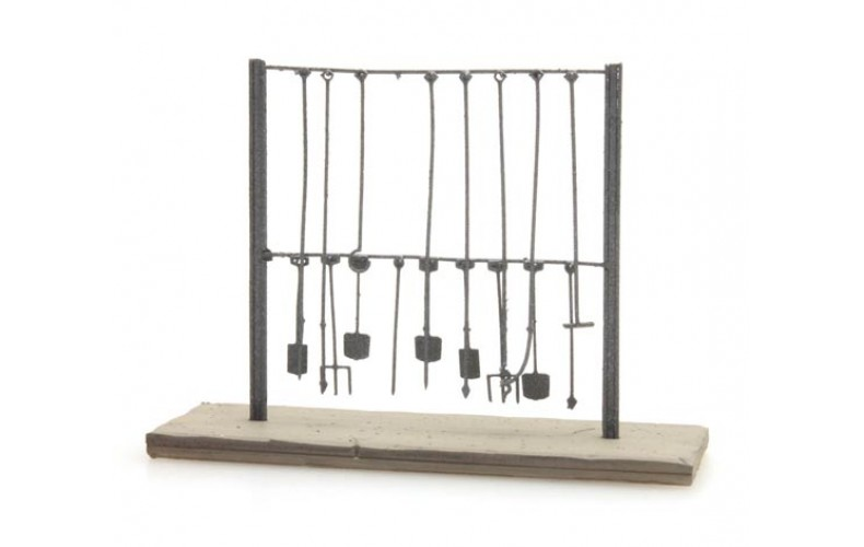 316041 Painted Loco Tool Rack (N scale 1/160th)