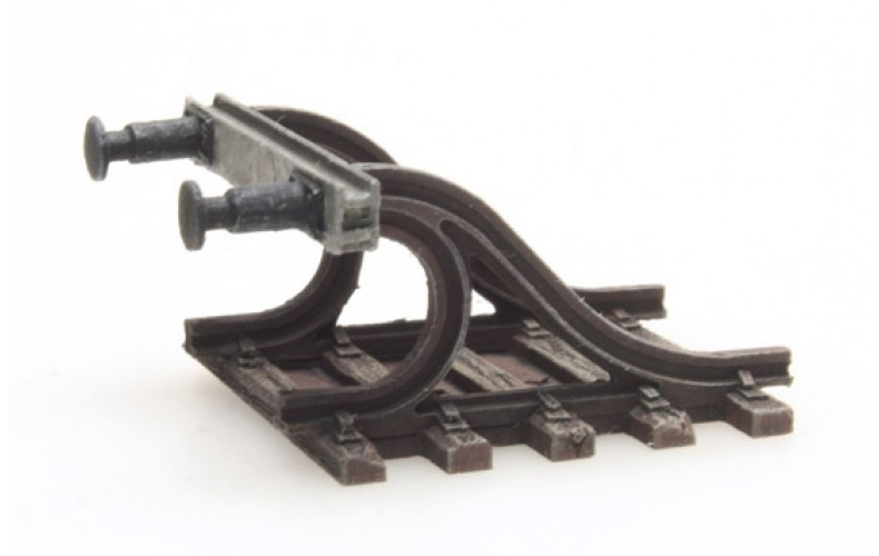 316044 Painted Buffer Stop A with Buffers ( N scale 1/160th)