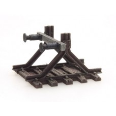 316045 Painted Buffer Stop B with Buffers (N scale 1/160th)