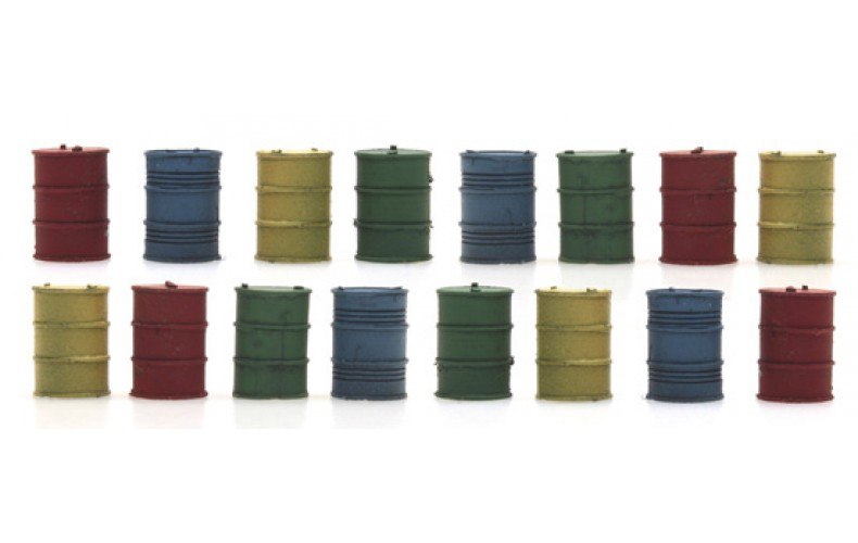 316052 Painted Oil Drums ( N scale 1/160th)