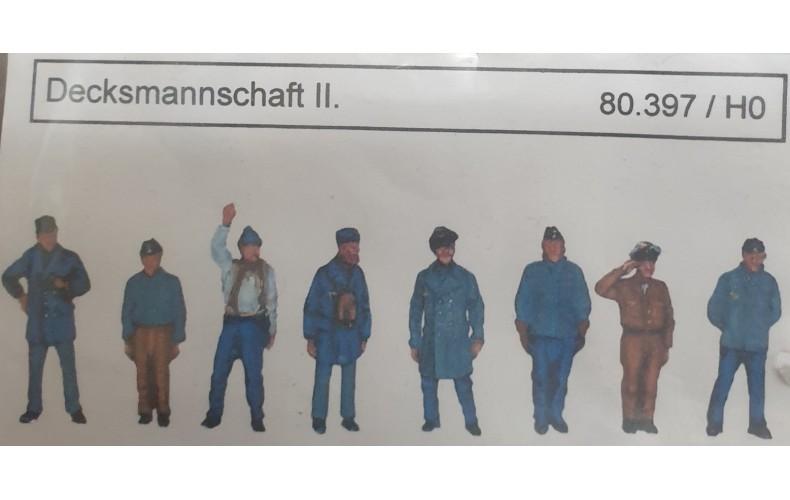 80396 8 x Trawler/Deck Crew Figures (HO scale 1/87th)