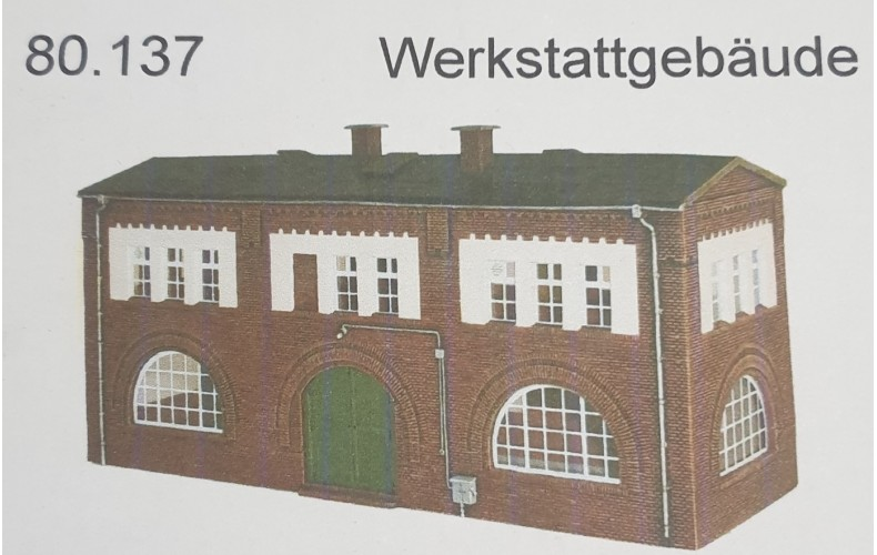 80137 Industrial Building (HO Scale 1/87th)