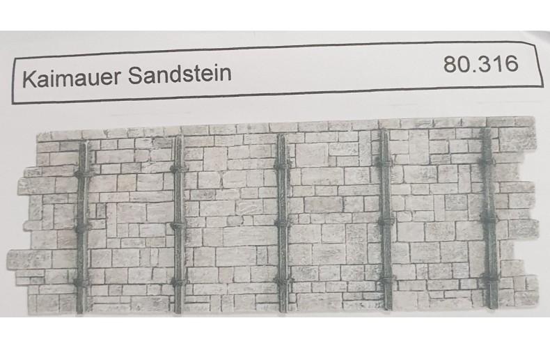80316 Stone Wharf Wall x 2 ( HO Scale 1/87th)