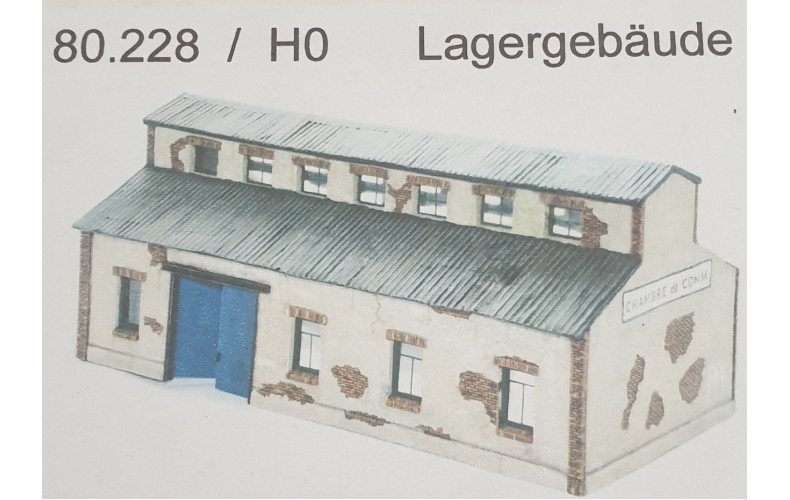 80228 Industrial Workshop Building (HO Scale 1/87th)