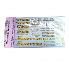 50T7 1/50th scale Wynns, Sunters, A.L.E.