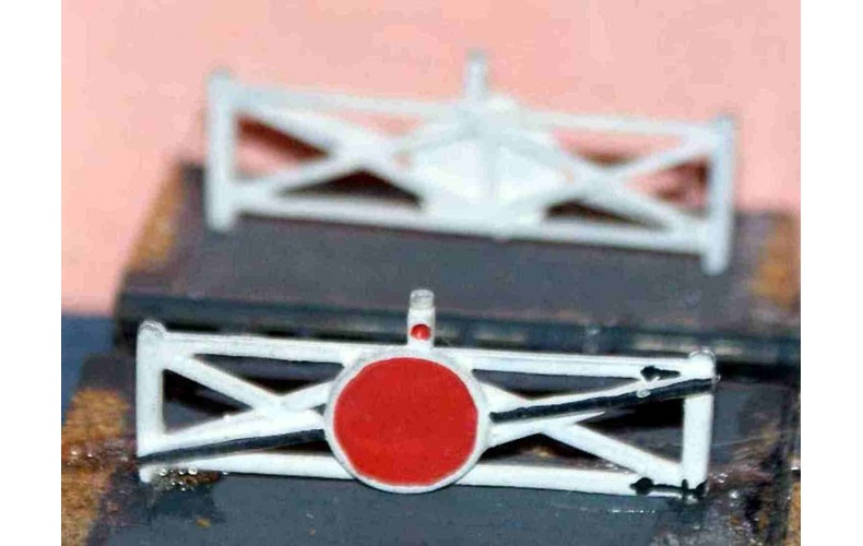 A10 1 pair Single Crossing Gates Unpainted Kit N Scale 1:148