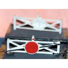 A10p Painted Single Crossing Gates (2) N Scale 1:148