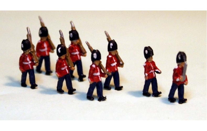 A111 8 Guards Marching Unpainted Kit N Scale 1:148