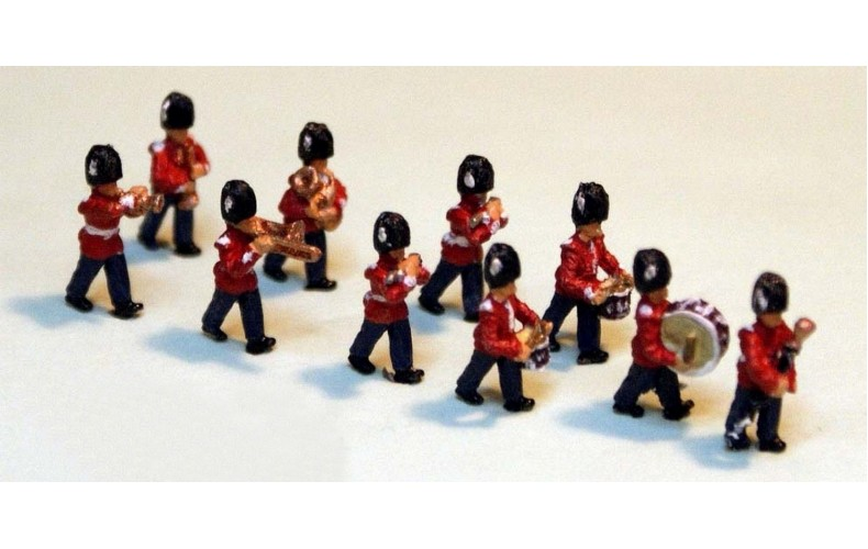A113 Guards Marching Band Unpainted Kit N Scale 1:148