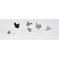 A115 6 Assorted Cats Unpainted Kit N Scale 1:148