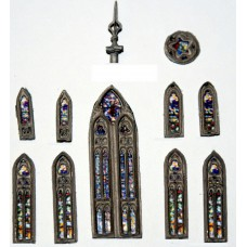 A117 Church Stained Glass Windows / Spire Unpainted Kit N Scale 1:148
