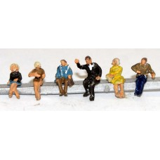 A119p Painted 6 Seated Passengers/ Figs.Set 2 N Scale 1:148