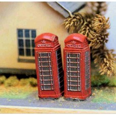 A11 3 Telephone boxes  Unpainted Kit N Scale 1:148