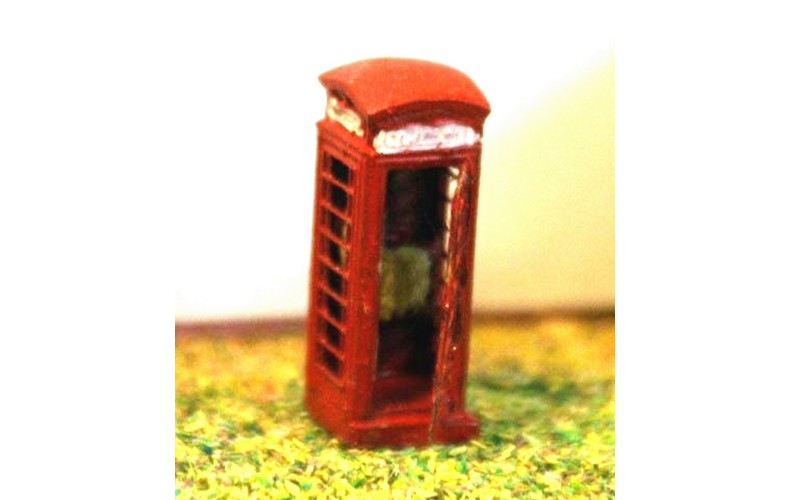 A11a Telephone Box Series6 etch brass Unpainted Kit N Scale 1:148