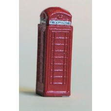A11p Painted Telephone box x 1 N Scale 1:148