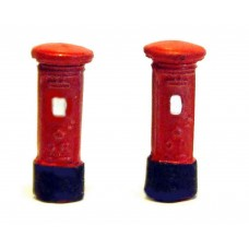 A12p Painted Pillar Boxes 2 off N Scale 1:148