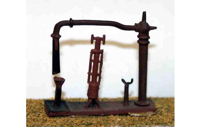 A13 Water Crane & fire devil Unpainted Kit N Scale 1:148