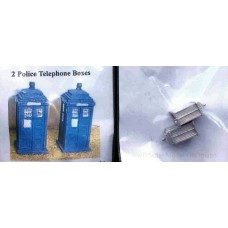 A17 Police Telephone boxes x 2  Unpainted Kit N Scale 1:148