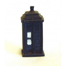 A17p Painted Police Telephone box N Scale 1:148