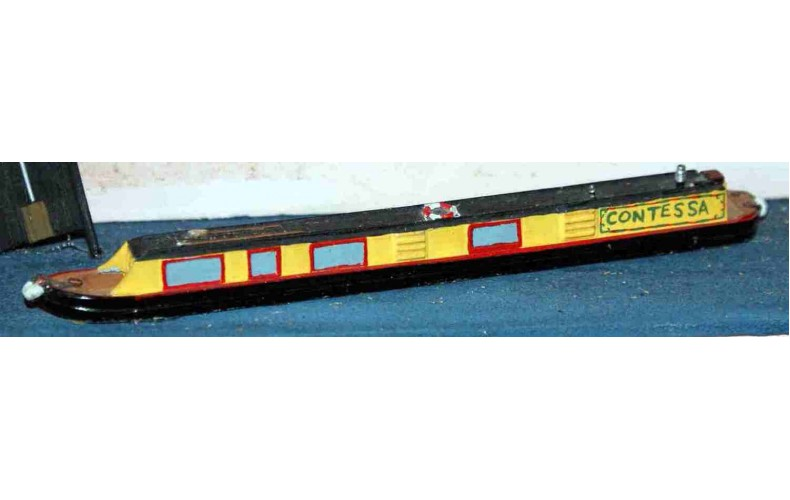 A19 1 x 70ft Holiday Canal boat Unpainted Kit N Scale 1:148