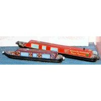 A20 1x35ft,1x52ft Holiday Canal boats Unpainted Kit N Scale 1:148