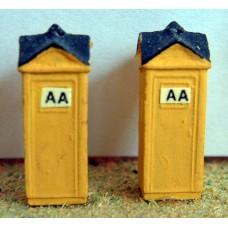 A21 AA Boxes x 2 Unpainted Kit N Scale 1:148