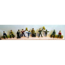 A25 Farm figures- 10 assorted  Unpainted Kit N Scale 1:148