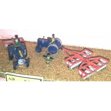 A28 Farm machinery-ground preparation Unpainted Kit N Scale 1:148