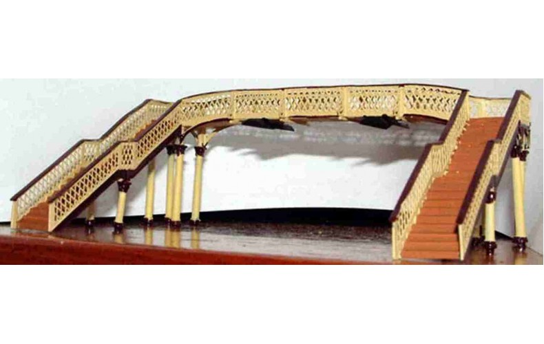 A34 Lattice footbridge Unpainted Kit N Scale 1:148