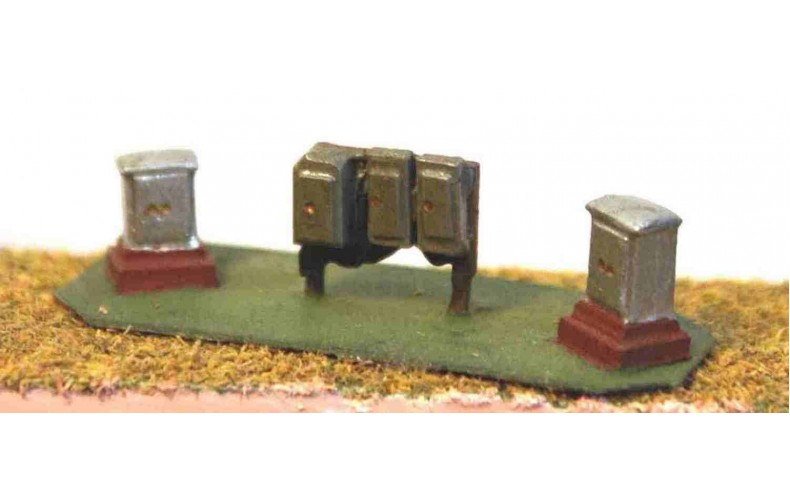 A38 trackside Relay boxes (3 types) Unpainted Kit N Scale 1:148