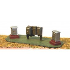 A38p Painted trackside relay boxes  N Scale 1:148
