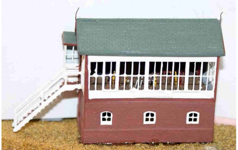 A46 LNWR/LMS Signal box & interior Unpainted Kit N Scale 1:148