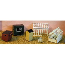 A49 Greenhouses & garden sheds Unpainted Kit N Scale 1:148