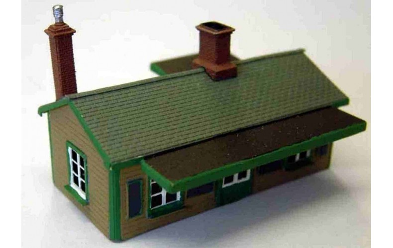 A52 Surburban Station building Unpainted Kit Nscale 1:148