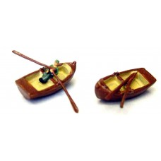 A56 2 rowing boats & fisherman Unpainted Kit N Scale 1:148