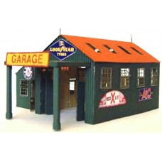 A57 Country Garage (incl folding doors) Unpainted Kit N Scale 1:148