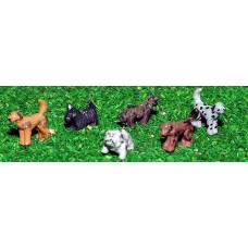 A66p Painted Dogs 6 off N Scale 1:148