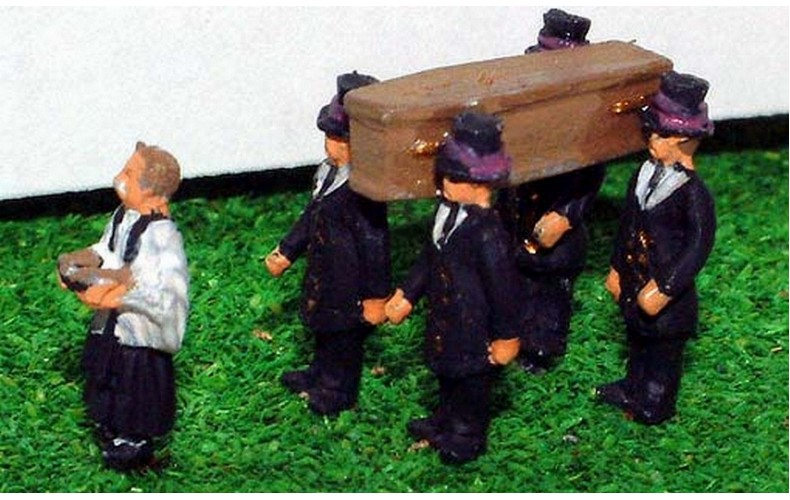 A74 Funeral Scene Unpainted Kit N Scale 1:148