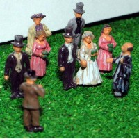 A75 White Wedding Scene Unpainted Kit N Scale 1:148