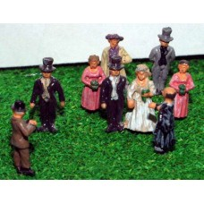 A75p Painted Wedding Scene N Scale 1:148