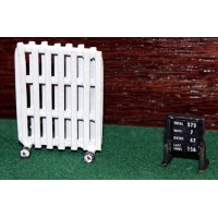 A76b Cricket Sight Screen and Scoreboard  Unpainted Kit N Scale 1:148