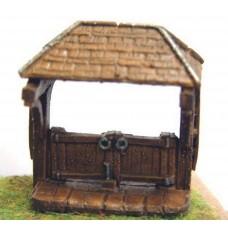 A83 Church Lych Gate Unpainted Kit N Scale 1:148