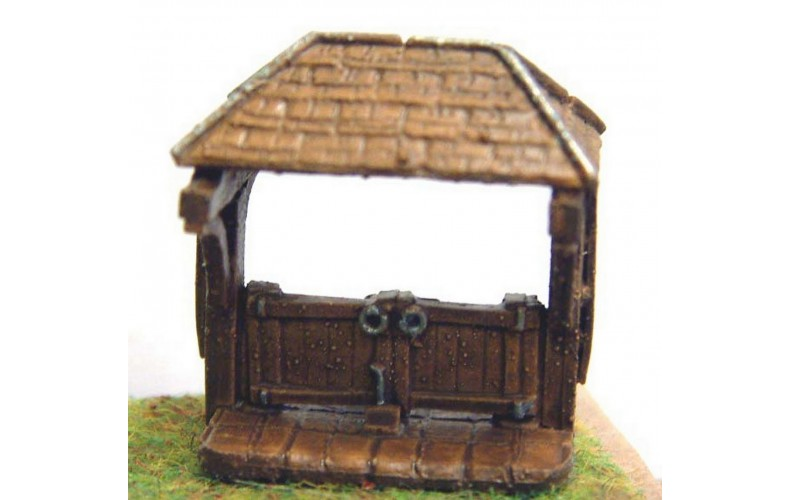 A83 Church Lych Gate Unpainted Kit N Scale 1:148