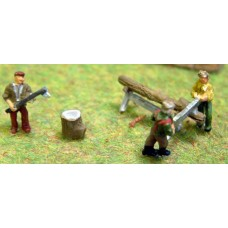 A85 Forresters saw horse set and axe Unpainted Kit N Scale 1:148