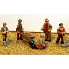 A93p Painted 5 Gardeners and equipment N Scale 1:148