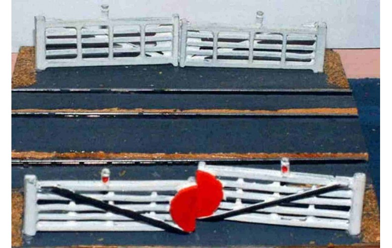 A9 2 pairs Crossing Gates Unpainted Kit N Scale 1:148