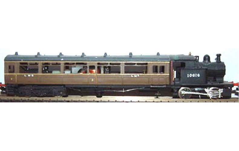 B15 L.M.S.(L.& Y.)Steam Railcarreqs c420 or gp40 Unpainted Kit Nscale 1:148