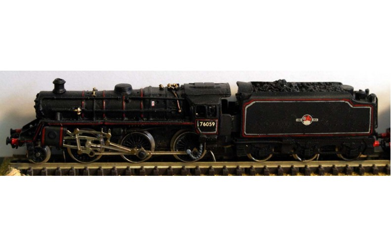 B27 BR Class 4,2-6-0 & BR1b tenderreqs crab &tender Unpainted Kit Nscale 1:148